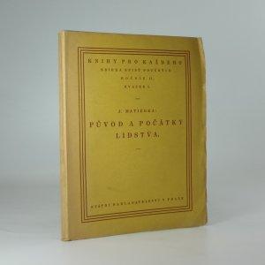 náhled knihy - Původ a počátky lidstva