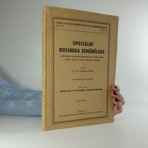 náhled knihy - Speciální botanika zemědělská. Část první, Rostliny výtrusné a nahosemenné