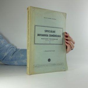 náhled knihy - Speciální botanika zemědělská. Rostliny prvoobalné