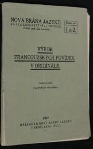 náhled knihy - Výboru Francouzských povídek v originále s podrobným slovníčkem, Franc. sv. 1. a 2.
