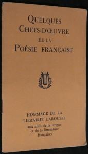 náhled knihy - Quelques Chefs - D´oeuvre de la Poésie Francaise