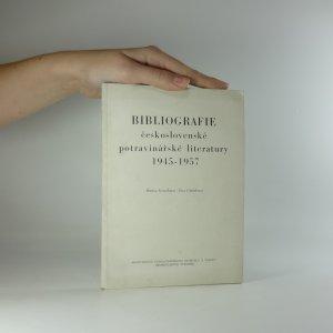 náhled knihy - Bibliografie československé potravinářské literatury 1945-1957