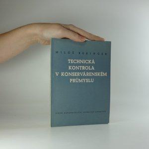 náhled knihy - Technická kontrola v konservárenském průmyslu