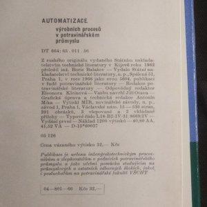 antikvární kniha Automatizace výrobních procesů v potravinářském průmyslu, 1966