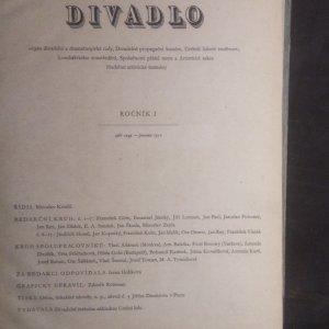 antikvární kniha Divadlo, Ročník 1, září 1949 - prosinec 1950, 1950
