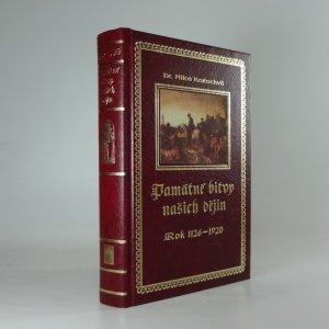 náhled knihy - Památné bitvy našich dějin, Rok 1126-1920