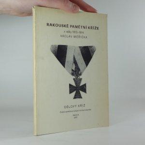 náhled knihy - Rakouské pamětní kříže z války 1813-1814