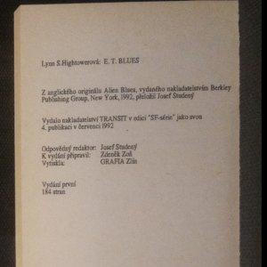 antikvární kniha E.T. blues, 1992