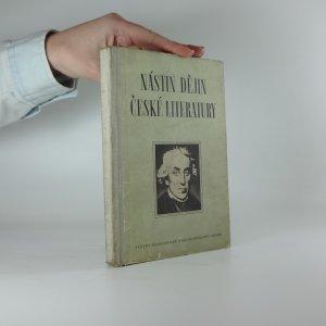 náhled knihy - Nástin dějin české literatury
