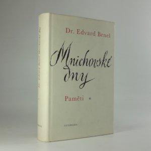 náhled knihy - Mnichovské dny : paměti