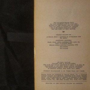 antikvární kniha Trouble follows me, 1972