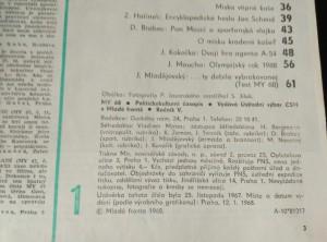 antikvární kniha My 1968 Politicko kulturní časopis československé mládeže r. 5; č.1 - 12, 1968
