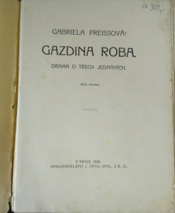 antikvární kniha Gazdina roba : Drama o třech jednáních, 1930