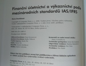 antikvární kniha Finanční účetnictví a výkaznictví podle mezinárodních standardů IA /IFRS, 2006