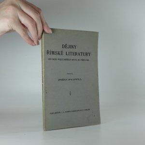 náhled knihy - Dějiny římské literatury od dob nejstarších do r. 80 před Kr.