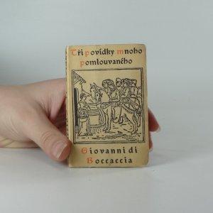 náhled knihy -  Tři povídky mnoho pomlouvaného