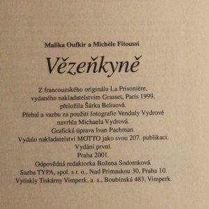 antikvární kniha Vězenkyně, 2001