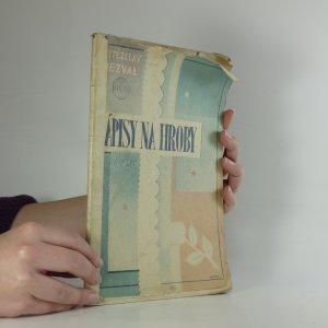 náhled knihy - Nápisy na hroby : Poesie