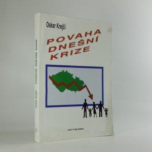 náhled knihy - Povaha dnešní krize