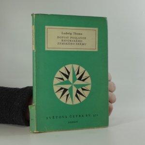 náhled knihy - Dopisy poslance bavorského zemského sněmu