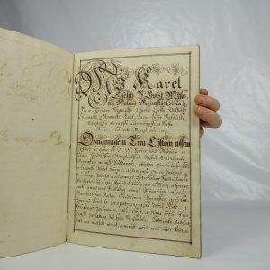 náhled knihy - Výnos císaře Karla VI. s podpisem