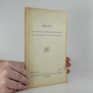 náhled knihy - Zprávy čs. vědecké technické společnosti pro potravinářský průmysl při ČSAV