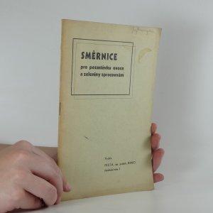 náhled knihy - Směrnice pro pozastávku ovoce a zeleniny zpracovnám