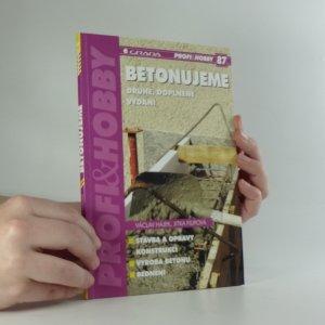náhled knihy - Betonujeme