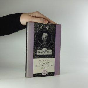 náhled knihy - O pokoření stavu městského. Léta 1547