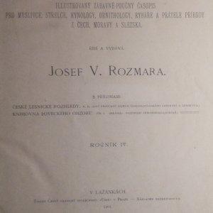 antikvární kniha Lovecký obzor : illustrovaný zábavně-poučný časopis pro myslivce, střelce, kynology, rybáře a přátele přírody z Čech, Moravy a Slezska. IV. ročník., 1901