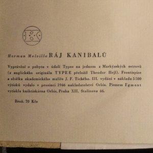 antikvární kniha Ráj kanibalů : Vyprávění o pobytu v údolí Typee na jednom z Markýzských ostrovů, 1946