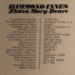 antikvární kniha Zkáza Mary Deare, 1978
