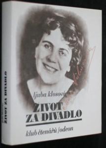 náhled knihy - Život za divadlo : Marie Hübnerová