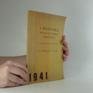 náhled knihy - 1. ročenka Rodičovského sdružení v Praze XIX.