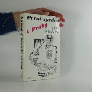 náhled knihy - První zpráva z Prahy