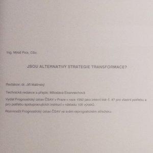 antikvární kniha Jsou alternativy strategie transformace? 4/1992, 1992