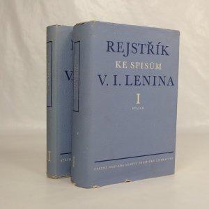 náhled knihy - Rejstřík ke spisům V. I. Lenina. Svazek 1 a 2.