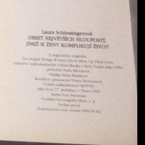 antikvární kniha Deset největších hloupostí, jimiž si ženy komplikují život, 1995