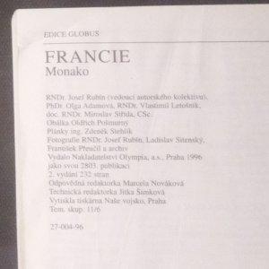 antikvární kniha Francie - průvodce do zahraničí, 1996