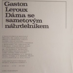 antikvární kniha Dáma se sametovým náhrdelníkem, 1991