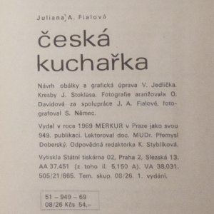 antikvární kniha Česká kuchařka, 1969
