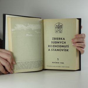 antikvární kniha Sbírka soudních rozhodnutí a stanovisek. Ročník 1986, 1987