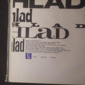 antikvární kniha Hlad, 1966