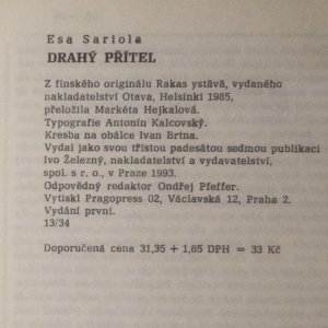 antikvární kniha Drahý přítel, 1993