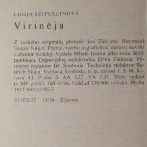 antikvární kniha Virineja, 1977