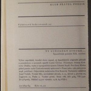 antikvární kniha Ty uvězněný strome, 1964