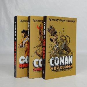 náhled knihy - Conan: A zrodí se čarodějka, Věž slona, Rudé hřeby (3 knihy se Saudkovou obálkou)