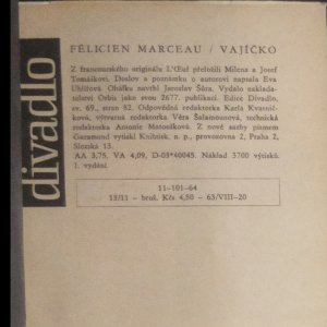 antikvární kniha Vajíčko, 1964