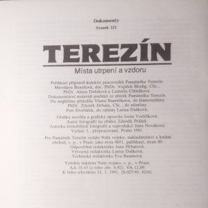 antikvární kniha Terezín : místa utrpení a vzdoru, 1991