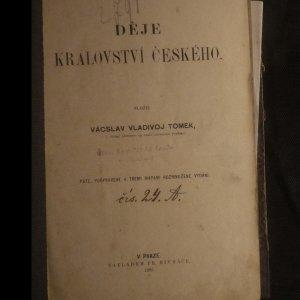 antikvární kniha Děje Králowstwí Českého, 1885